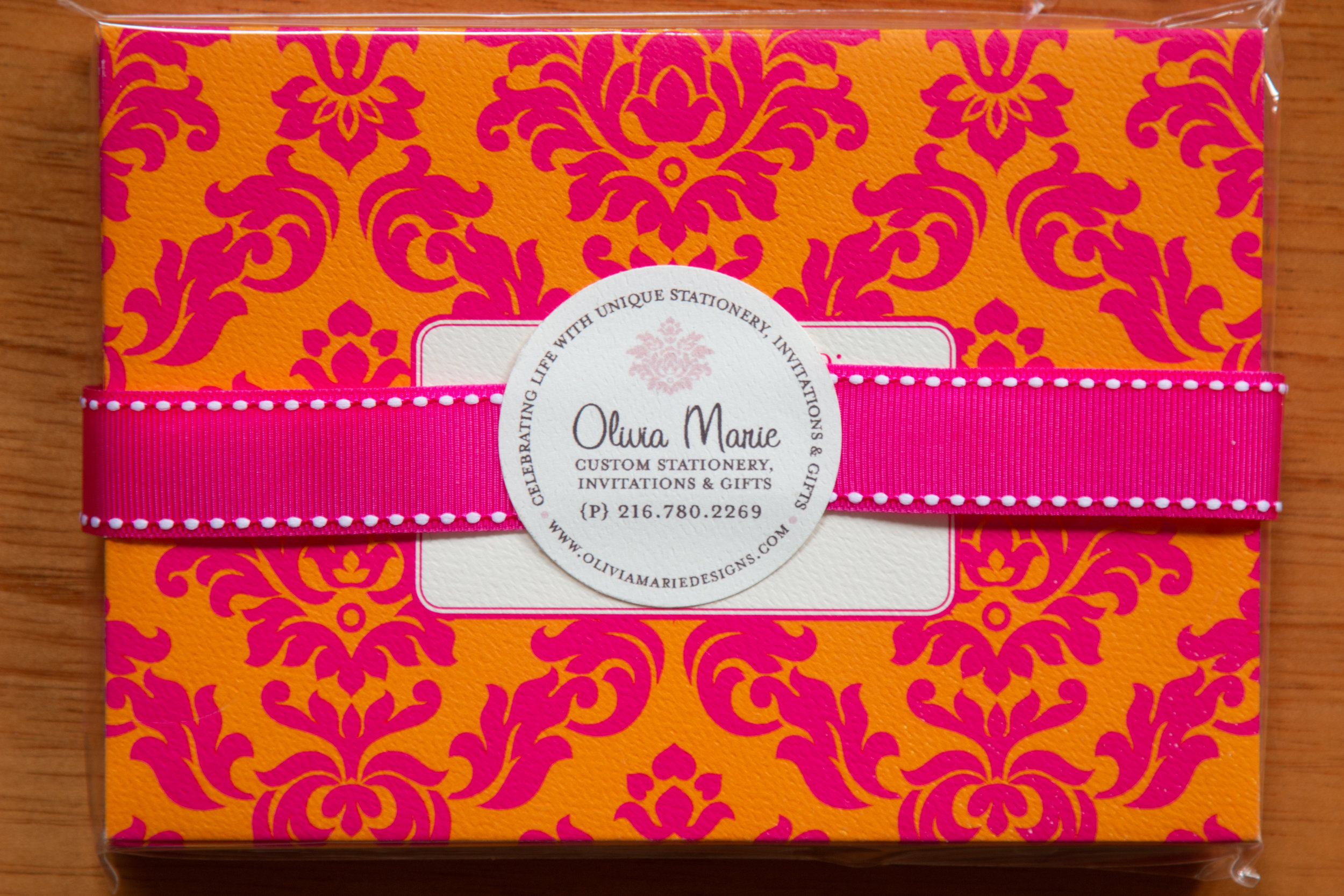 Claire Pink Stationery Set $20