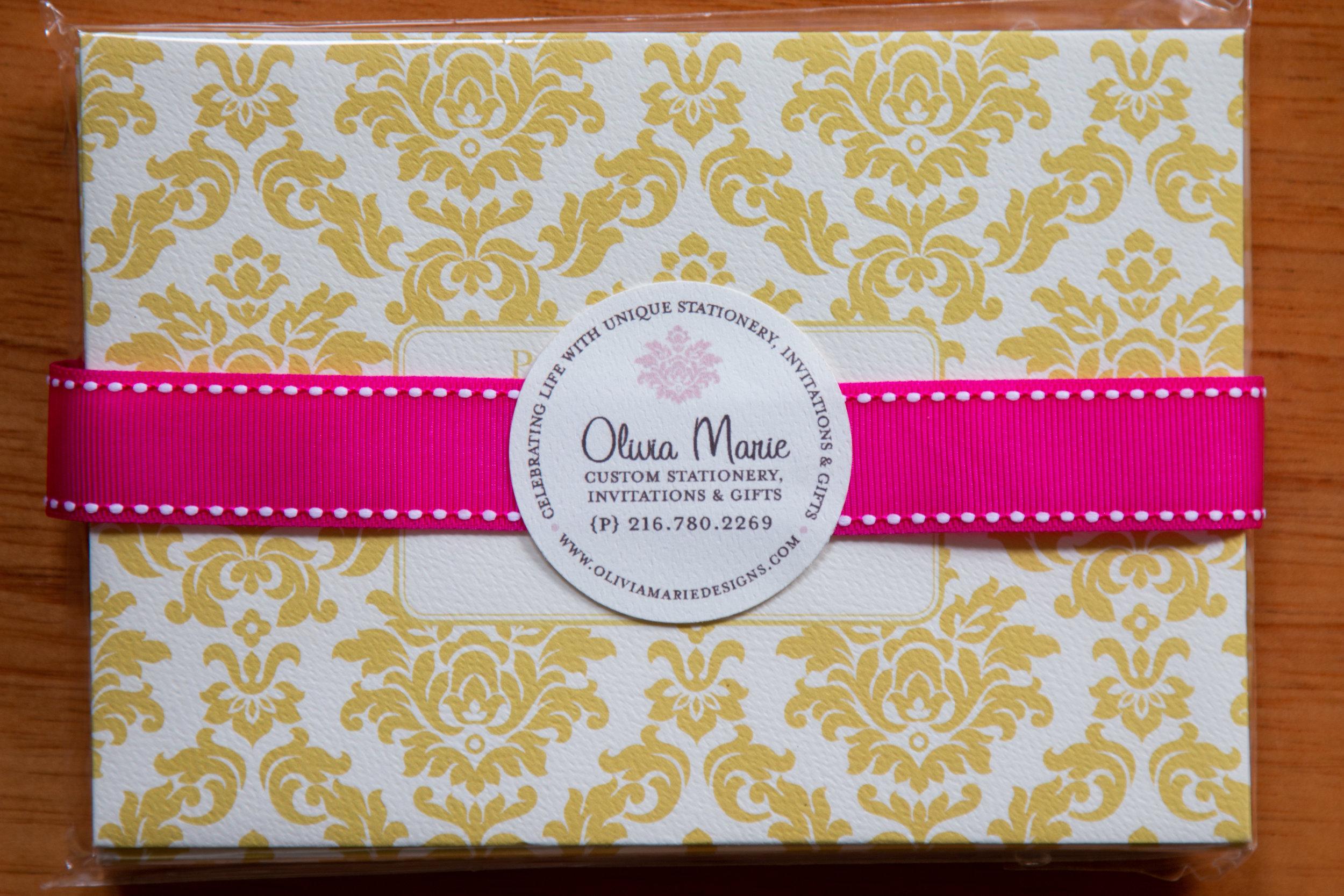 Olivia Gold Stationery Set $20