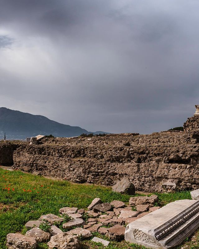 (3 of 3) Pompeii Italy. . There are places around the world when you see them in person, they're nothing like what you saw in the history books. The hurried city of Pompeii is one of them, and it deserves your entire attention. It's actual size, 150 acres, trumps any idea of layout you've tried to visualize in your head. With over 3 million people living in the viscidity of Mt. Vesuvius today, it is currently the most dangerous volcano in the world. ▪️ 04/2018