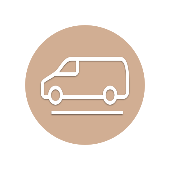 PICKUP - Our driver picks up your items at the specified time.