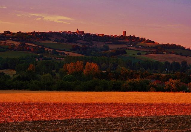 The view from the garden captured by one of our guests last summer #sunset #countryside #france #holiday