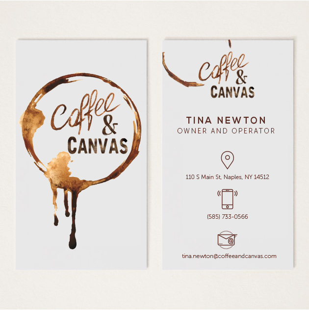 Coffee & Canvas Business Cards