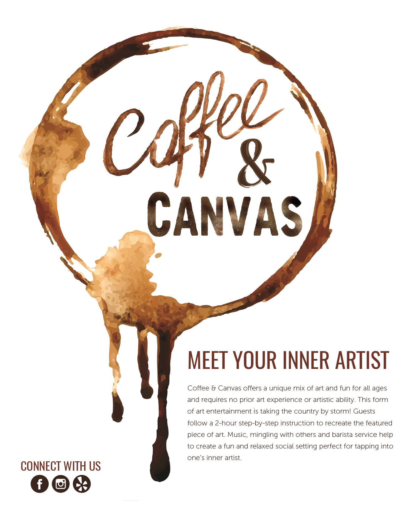 Coffee & Canvas Print Ad