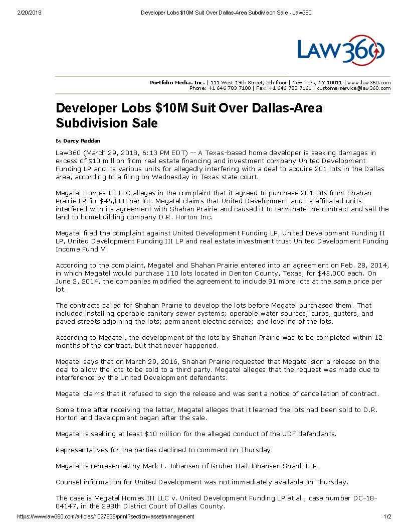 Developer Lobs $10M Suit Over Dallas-Area Subdivision Sale - Law360 (003)_Page_1.jpg