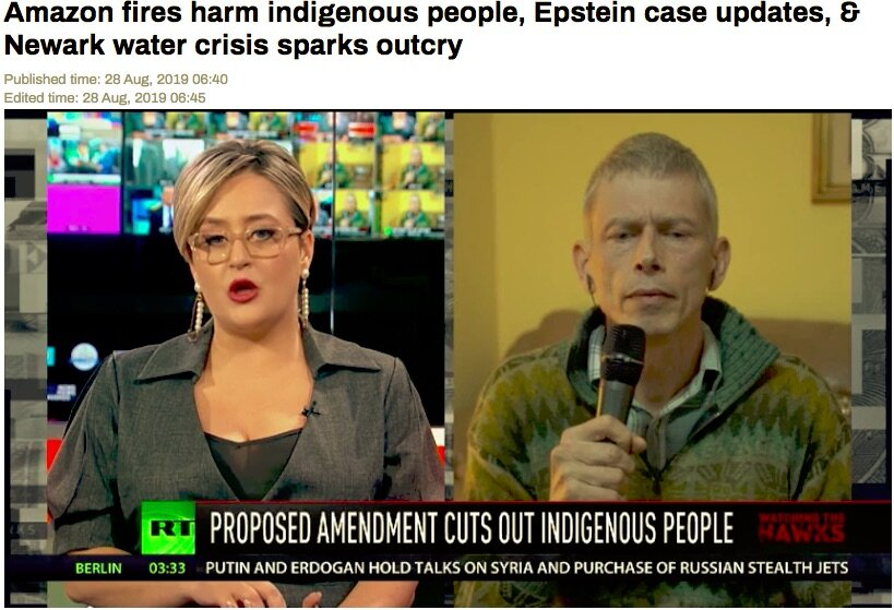 CONVERGENCE KEYNOTE INTERVIEWED ON RT ABOUT INDIGENOUS STRUGGLE AND THE AMAZON RAINFOREST FIRES IN BRAZIL - Winnie Overbeek, International Coordinator of the World Rainforest Movement will be a Keynote at the 2019 North American Forest and Climate Movement Convergence