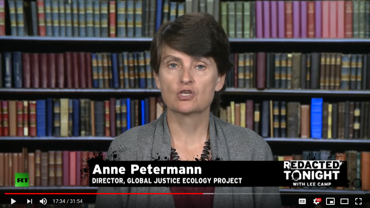 Anne Petermann Slams False Solutions and Promotes the Convergence - on Redacted Tonight