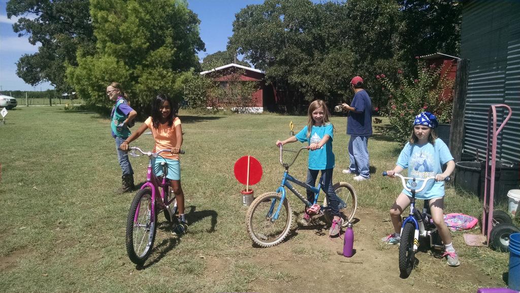 Fun course on bikes.