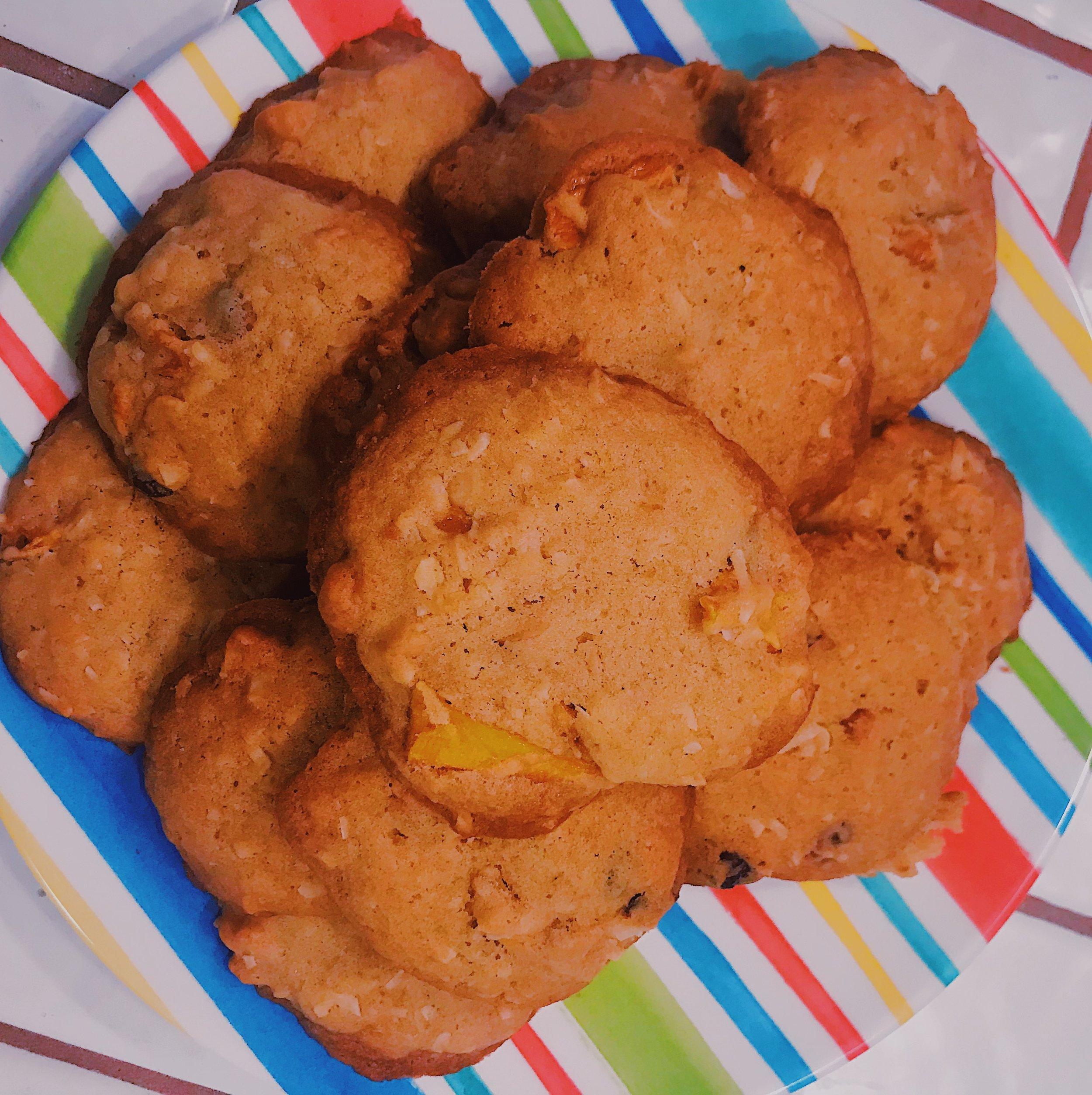 Mango & Coconut Hawaiian Cookies