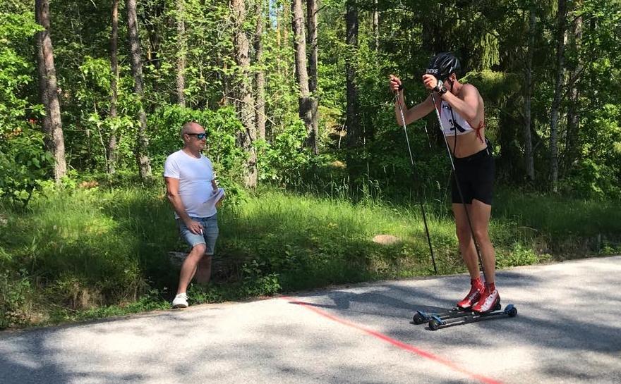 Pontus Nordström hade greppet vid spurtpriset efter 21 kilometer. I mål fick han nöja sig med sjunde plats.