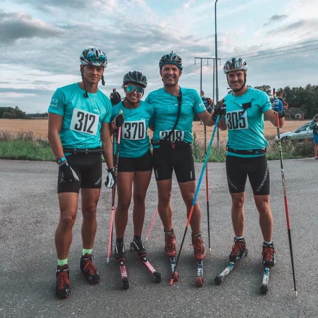 4st XC Sthlm åkare, innan Alliansloppet 2019, Bild:  https://www.instagram.com/tringcas/   Kan du namnge alla fyra? Kommentera nedan :-)