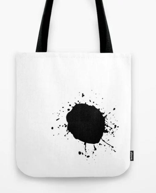 Large Ink Splat Tote Bag