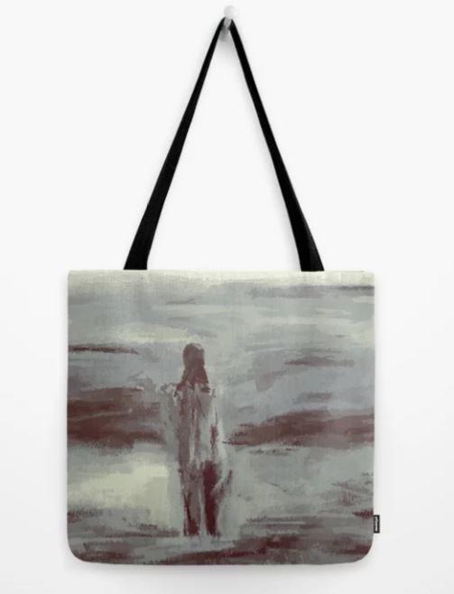 Ocean Swim Tote Bag-GREY