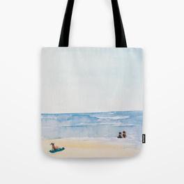Three on a Beach Tote Bag