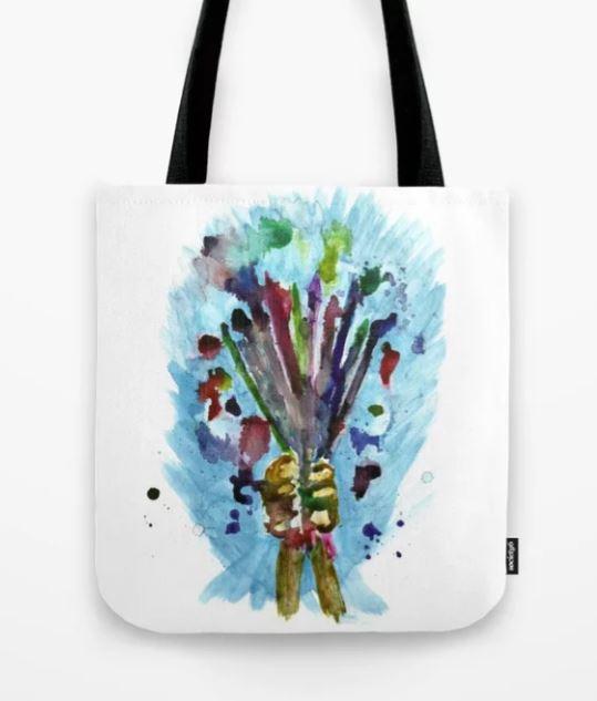 Artists Bouquet Tote Bag