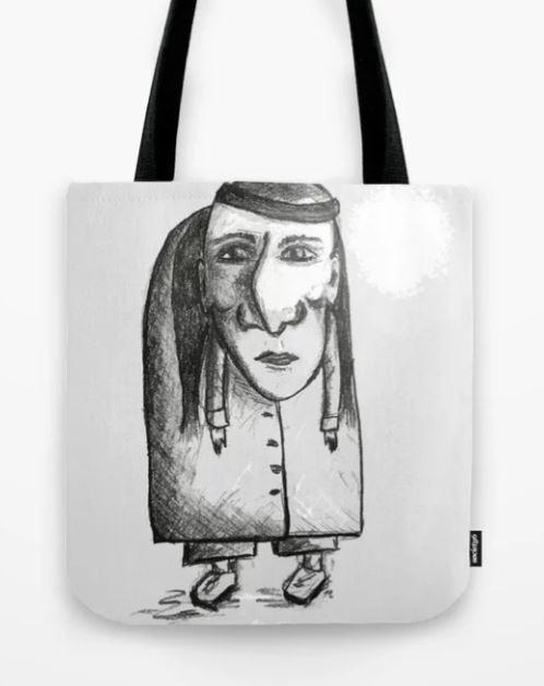 Bent Nose Man Tote Bag