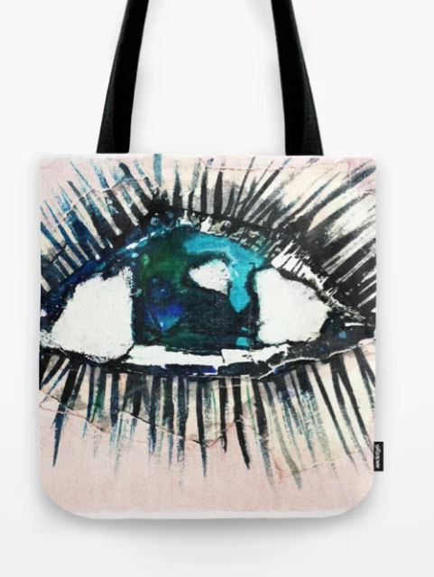 Eyes taped open Tote Bag
