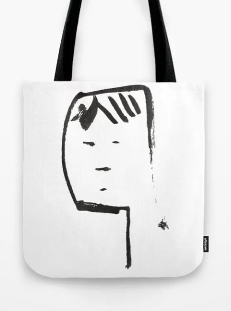 Ink face Oh Tote Bag