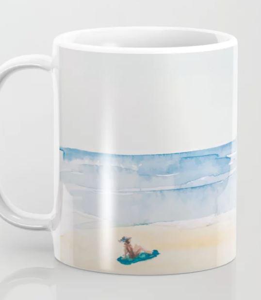 Three on a Beach Coffee Mug