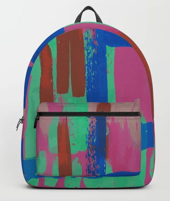 A bit of pink and some blue Backpack
