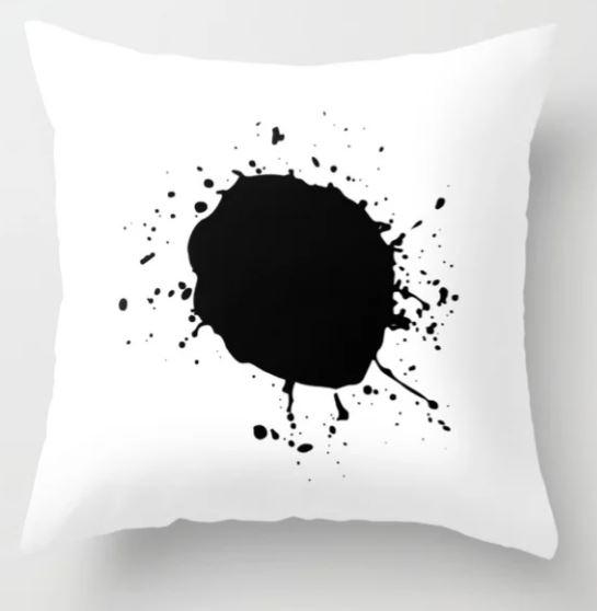 Large Ink Splat Throw Pillow