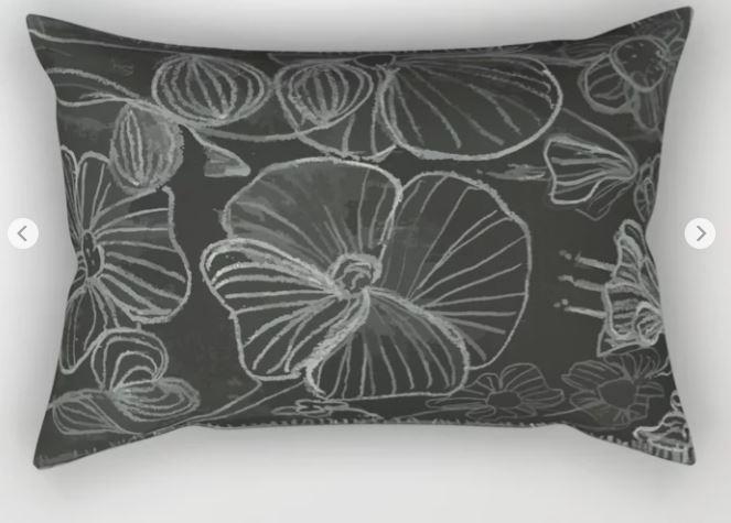 Flower Doodle Rectangular Pillow