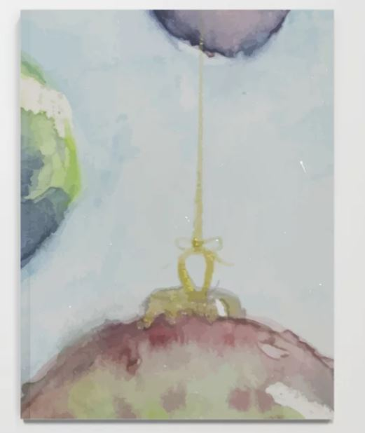 Watercolor Baubles, Christmas Card Notebook