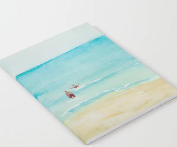 Two on Beach, Holiday Watercolor Notebook