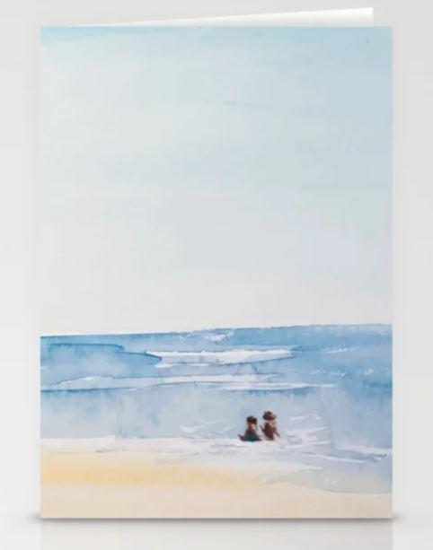 Three on a Beach Stationery Cards