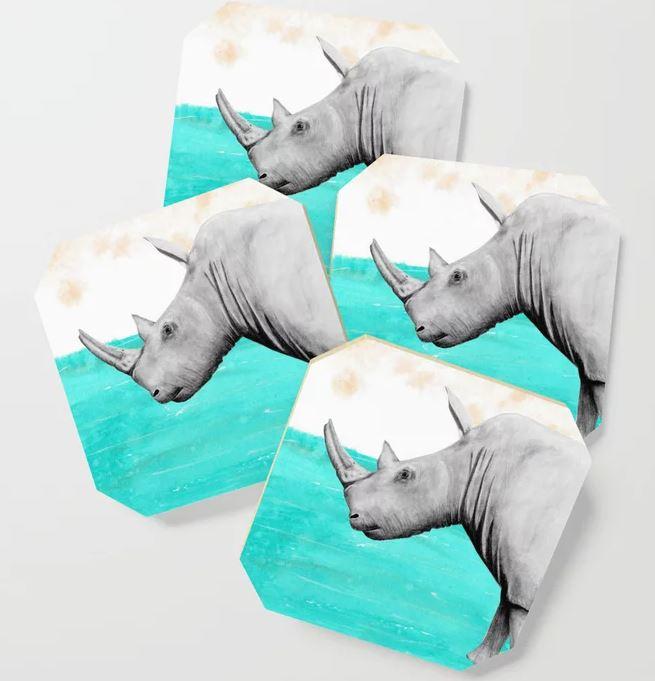 White Rhino Earth Coaster