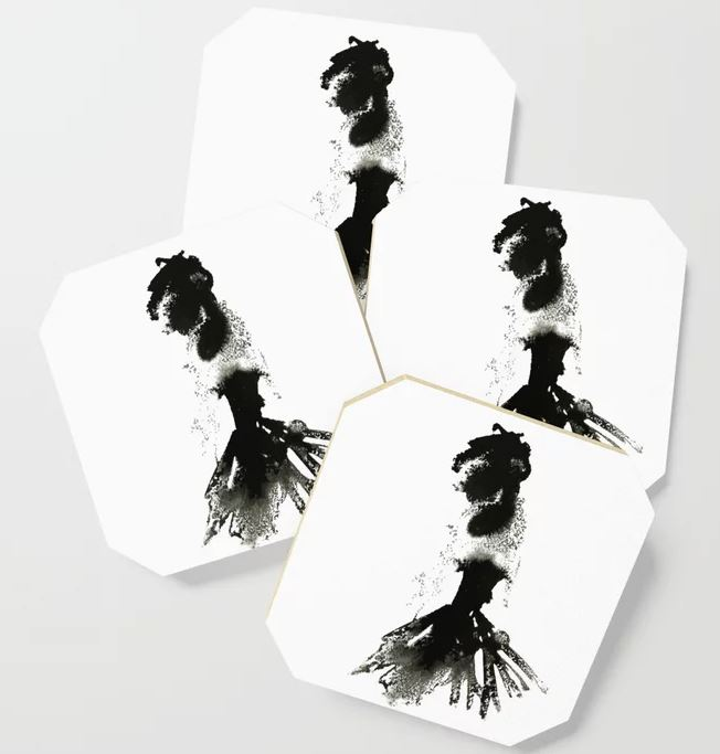 Ink Lace lady Coaster