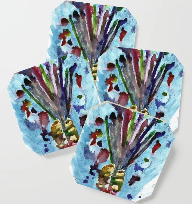 Artists Bouquet Coaster
