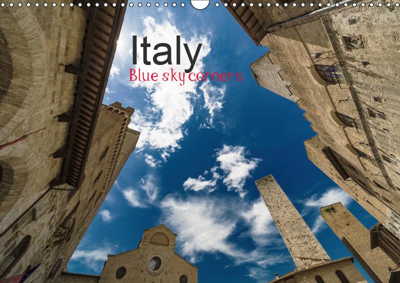 Italy, Blue sky corners