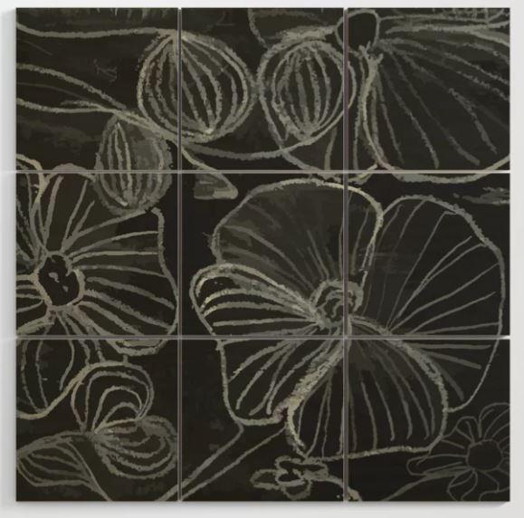 Flower Doodle Wood Wall Art