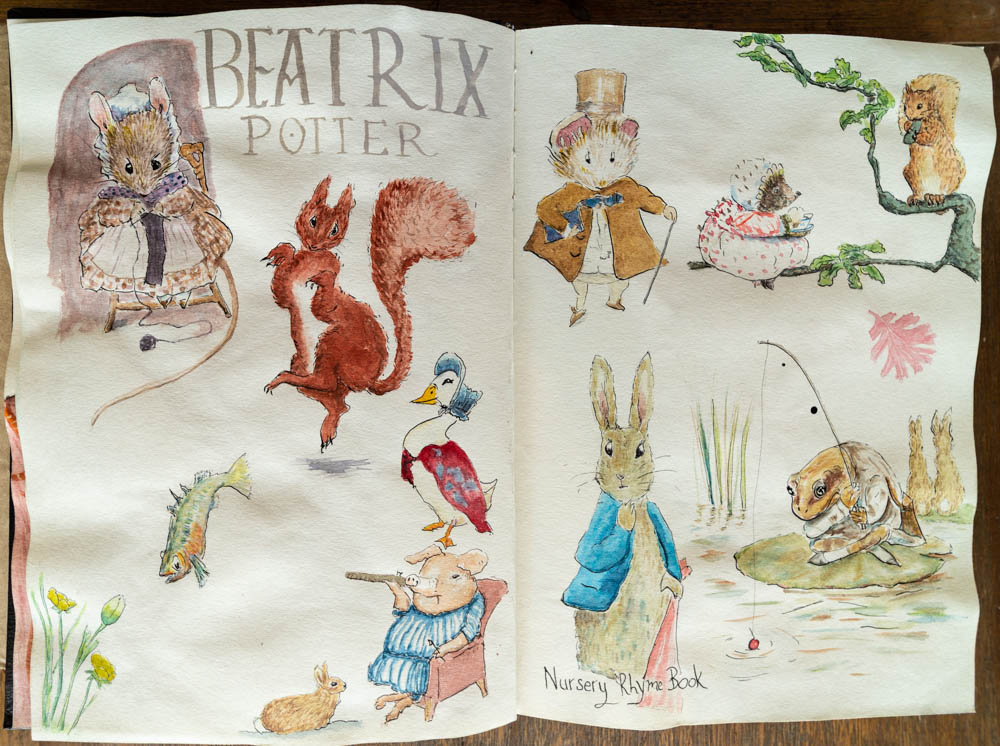 Illustrator study of Beatrix Potter
