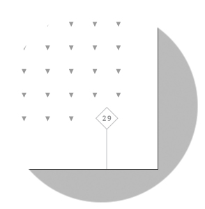 - The Tri-Dot BackBook has* Tri-Grid guides, 7mm line spacing. (Inverted solid triangles dot grid- with 65 degree sides on left and right from baseline extending down towards the apex).* 65-degree Tri-dot slants can be joined for quick cursive writing guideline.
