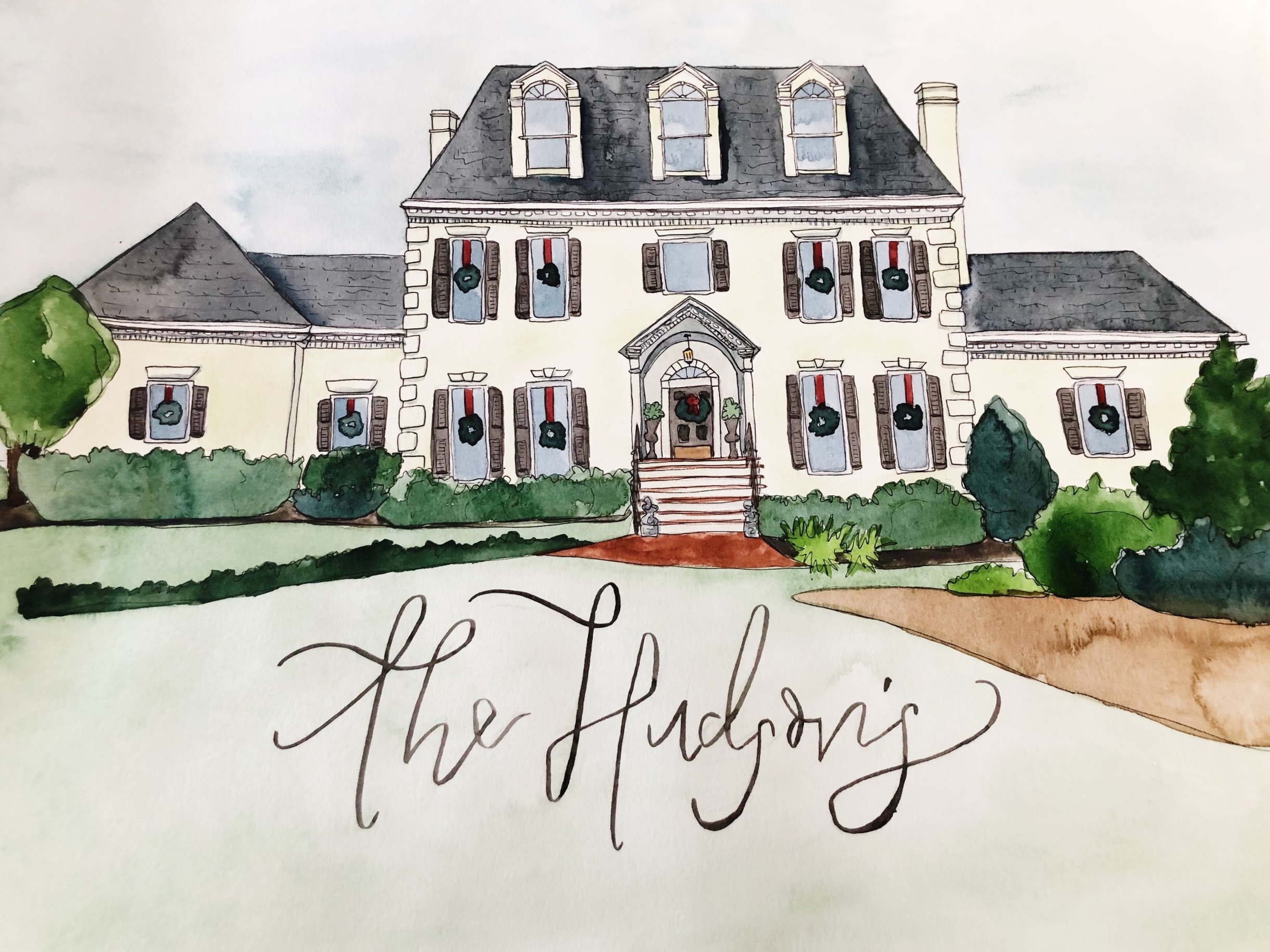 My custom house portraits make the best closing gifts, I would LOVE to partner with you! If you're interested, please contact me at hello@ruthiekellar.com for more information!