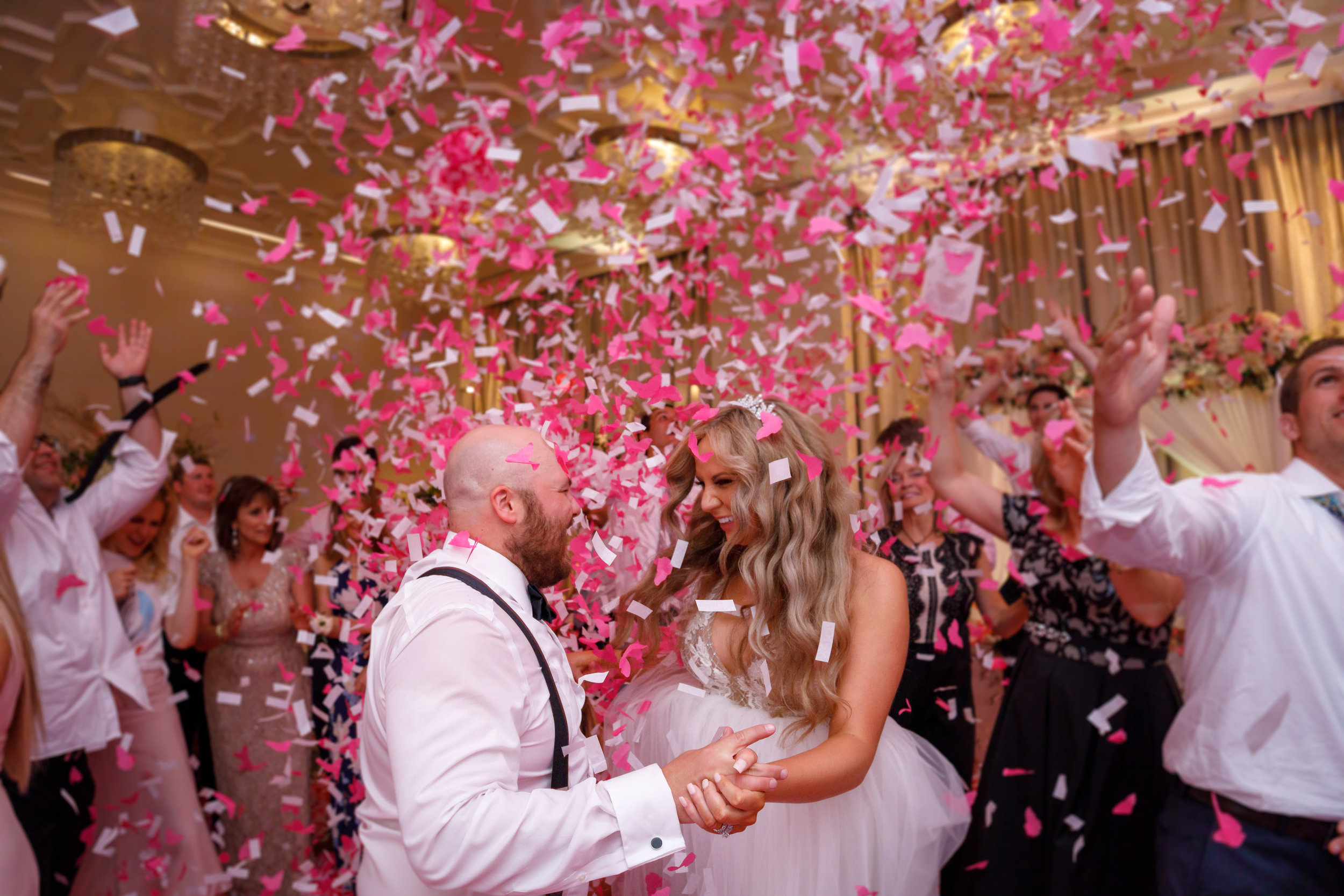 Pink and White Butterfly Confetti Wedding sendoff-four seasons orlando