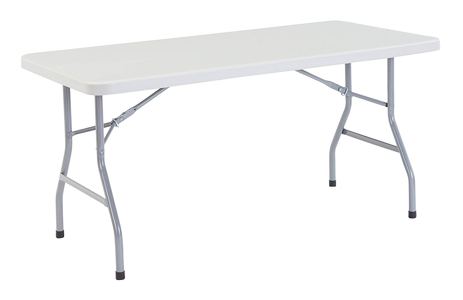 Grey 5′ heavy duty rectangle table - 1 available | Rent for $5