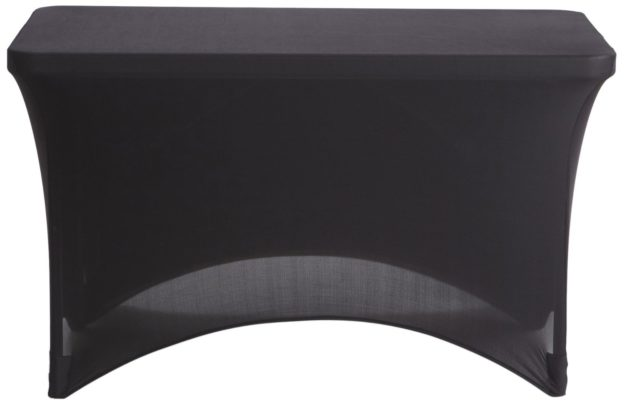 Black 4′ x 2′ Fitted Spandex Tablecover - 2 available | Rent for $3 each