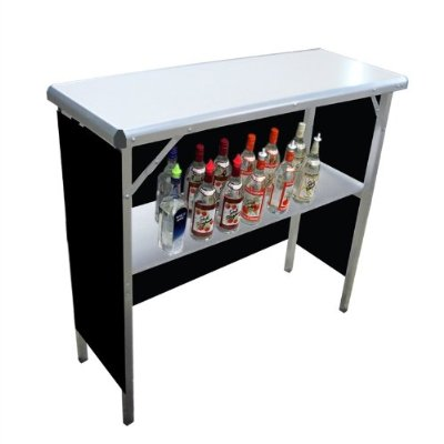 Portable High-Top Bar, measures 39″w x 36″h x 15″d, three interchangeable front panels (football, tiki, formal) - 1 available | Rent for $20