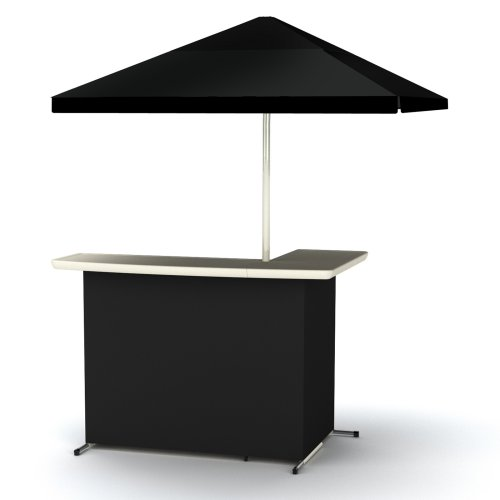 Deluxe Portable Party Bar with Umbrella, black - 1 available | Rent for $50