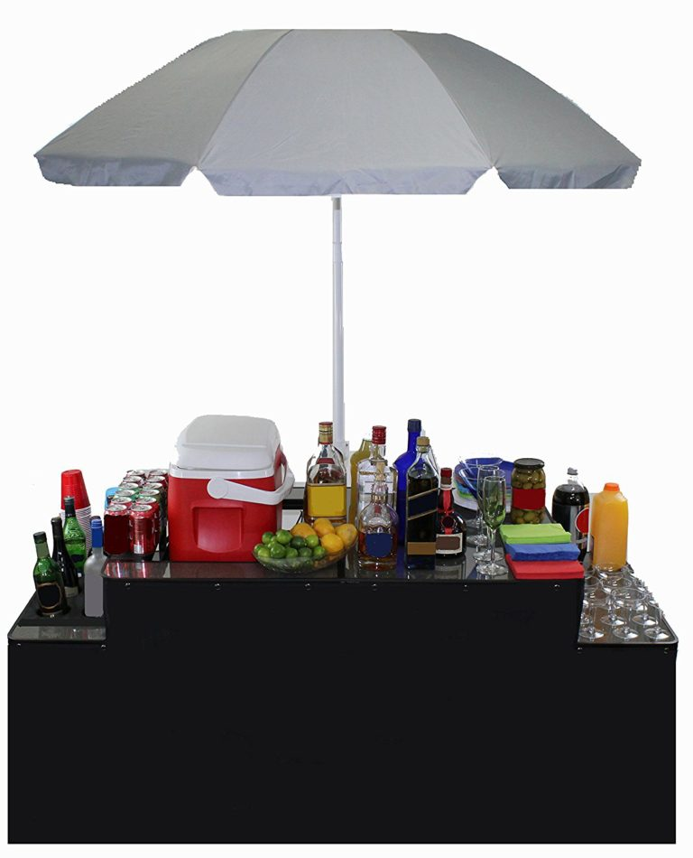 Portable Bartender's Table with Umbrella - 1 available | Rent for $30