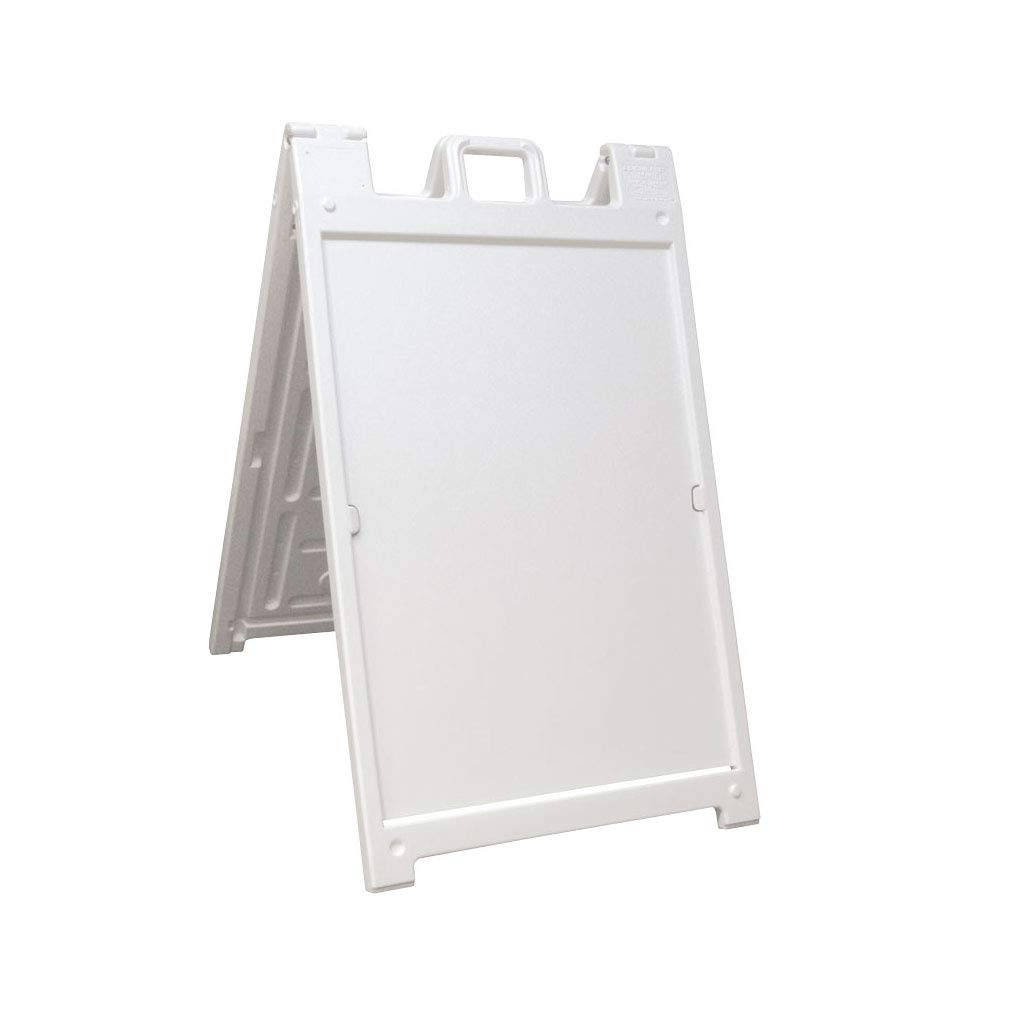 2′ x 3′ White Sidewalk A-Frame Sign - 1 available | Rent for $15