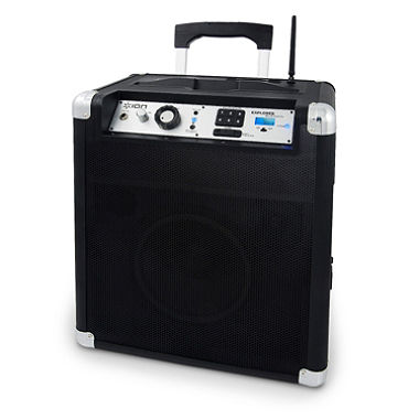 Block Rocker 50 watt Portable Sound System with Microphone. Bluetooth, AM/FM, Aux input, battery powered or can be plugged in, input for instruments & other audio sources - 1 available | Rent for $20