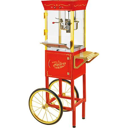 Popcorn Maker with Cart, makes up to 24 cups per batch - 1 available | Rent for $35