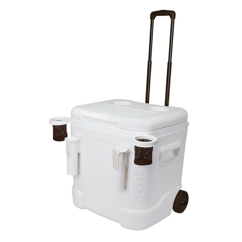 60qt Cooler on Wheels with Removable Cup Holders - 1 available | Rent for $10