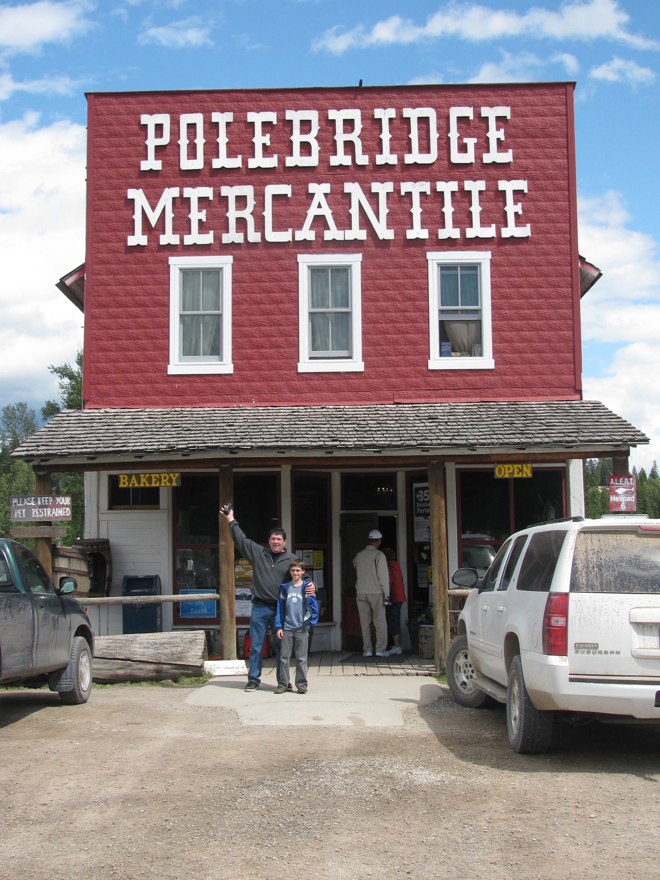 You'll find the Polebridge Mercantile a short drive from Little Peace of Heaven!