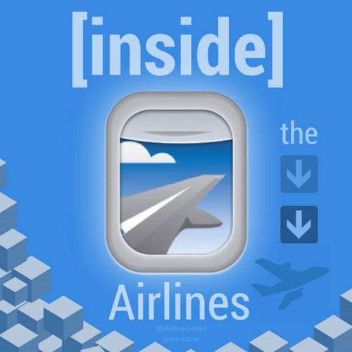 "The first logo and social media profile image for ""Inside the Airlines."""