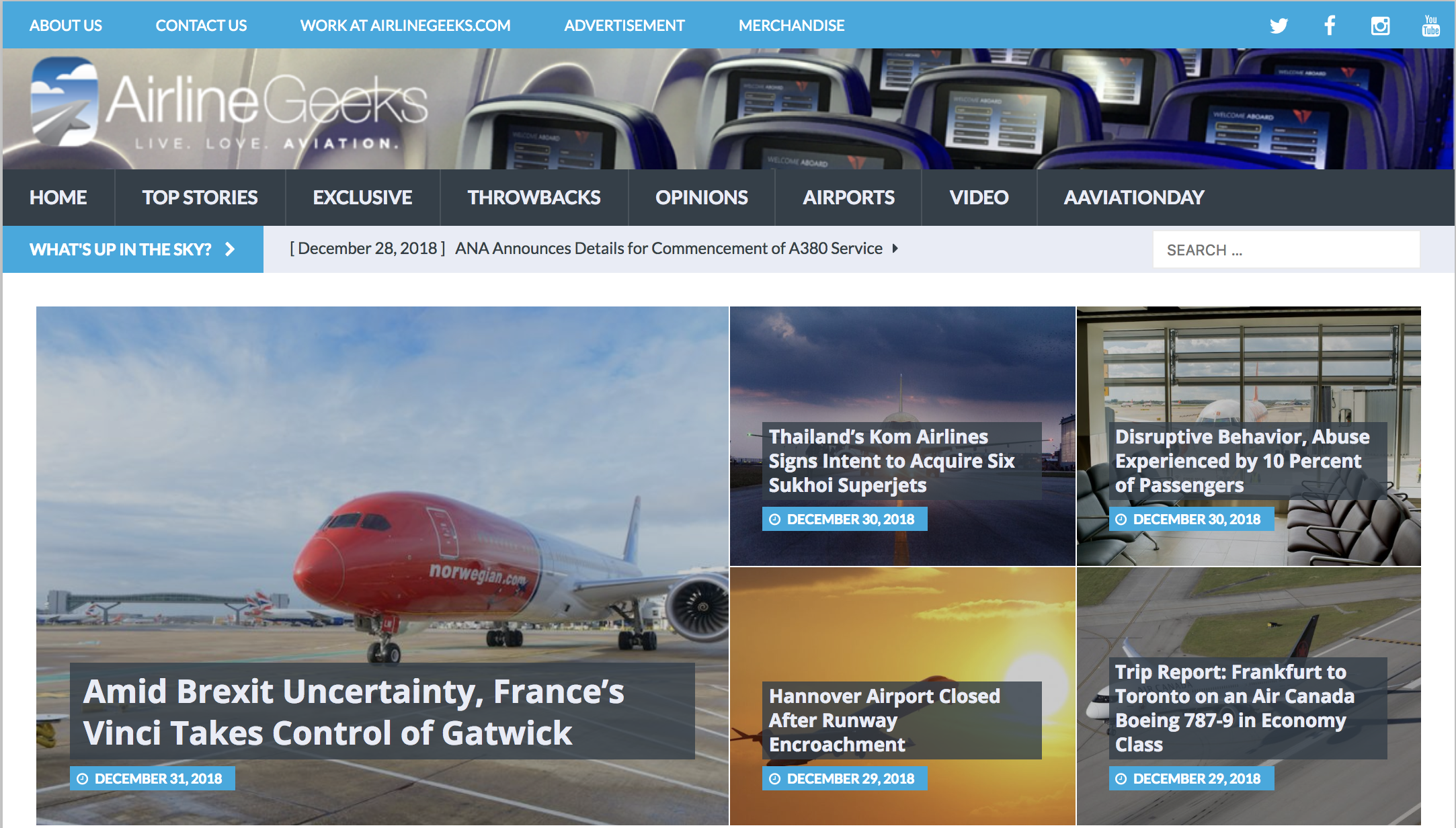 from the beginning - The AirlineGeeks.com homepage