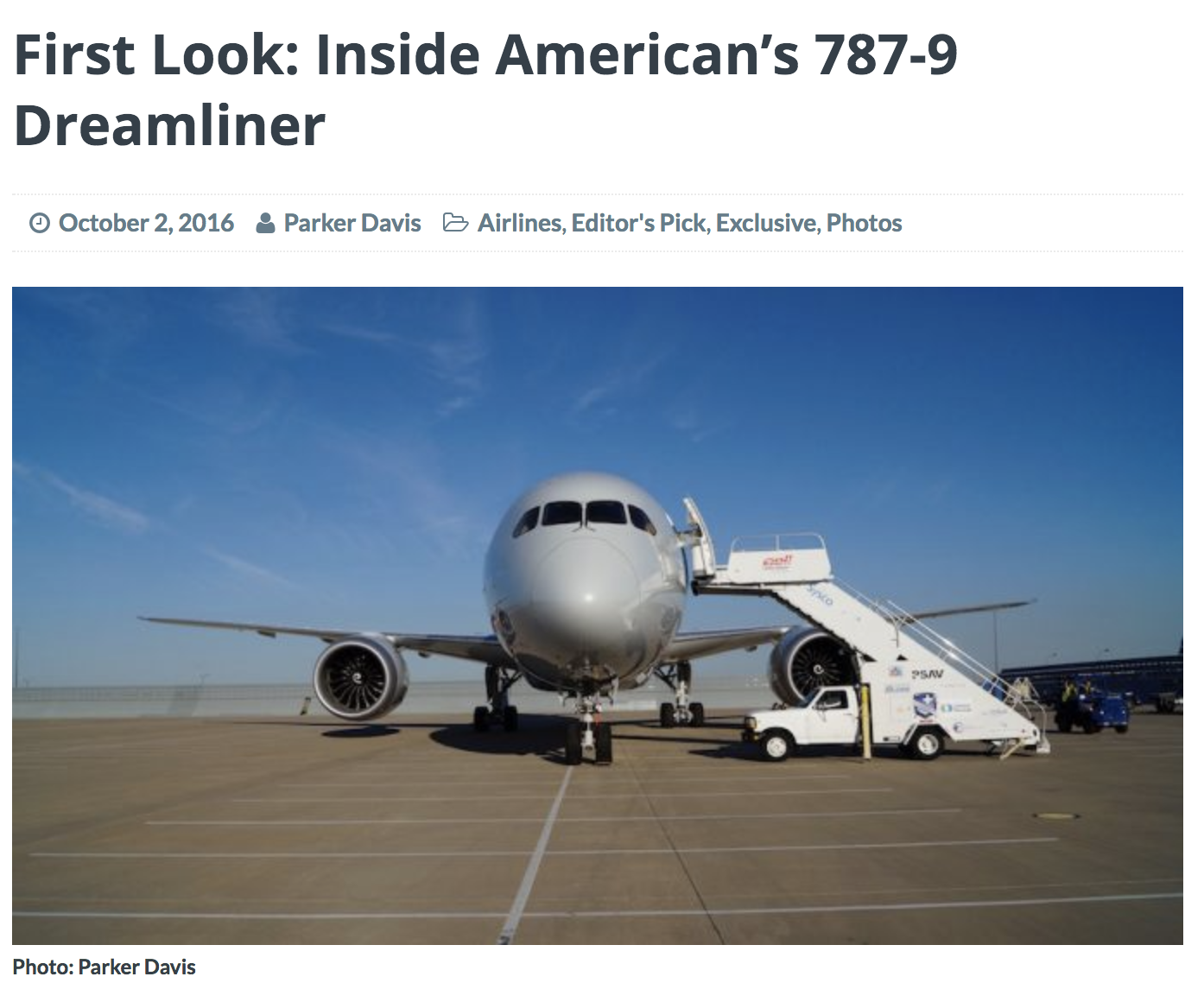 After taking a tour of American's newest aircraft, I drafted an article telling and showing readers what to expect.